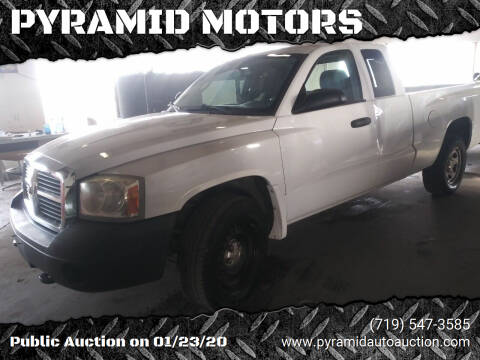 2007 Dodge Dakota for sale at PYRAMID MOTORS - Pueblo Lot in Pueblo CO