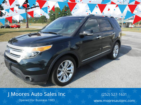 2014 Ford Explorer for sale at J Moores Auto Sales Inc in Kinston NC