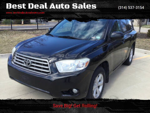 2010 Toyota Highlander for sale at Best Deal Auto Sales in Saint Charles MO