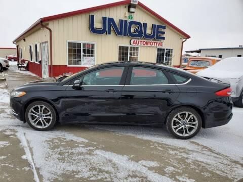 "2017 Ford Fusion for sale at UNIQUE AUTOMOTIVE ""BE UNIQUE"" in Garden City KS"