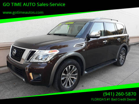 2019 Nissan Armada for sale at Go Time Automotive in Sarasota FL