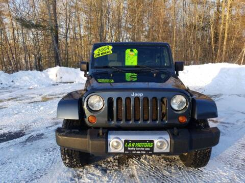 2008 Jeep Wrangler for sale at L & R Motors in Greene ME