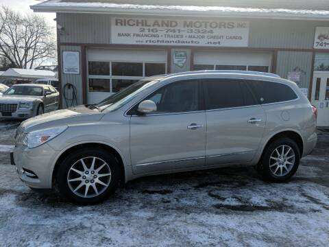 2013 Buick Enclave for sale at Richland Motors in Cleveland OH