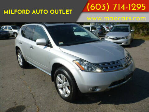 2007 Nissan Murano for sale at Milford Auto Outlet in Milford NH