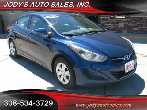 2016 Hyundai Elantra for sale at Jody's Auto Sales in North Platte NE
