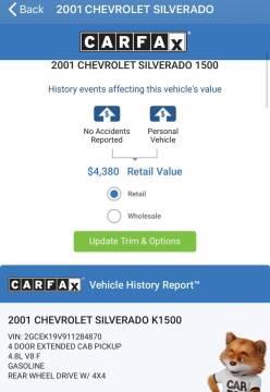 2001 Chevrolet Silverado 1500 for sale at Coeur Auto Sales in Hayden ID