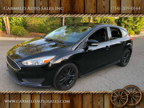 2016 Ford Focus for sale at Carmelo Auto Sales Inc in Orange CA