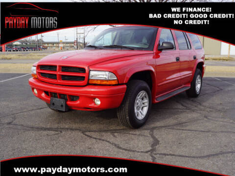 2001 Dodge Durango for sale at Payday Motors in Wichita And Topeka KS