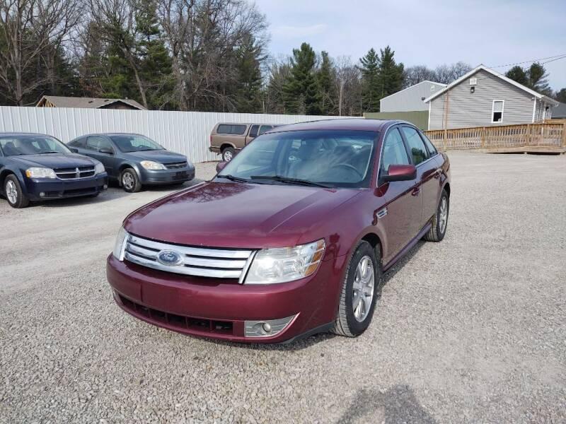 2008 Ford Taurus for sale at Hilltop Auto in Prescott MI