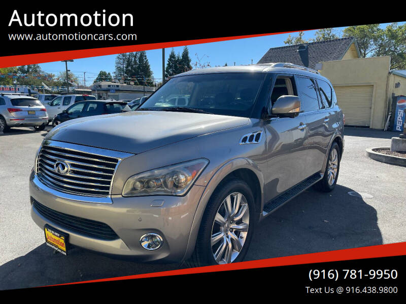 2012 Infiniti QX56 for sale at Automotion in Roseville CA