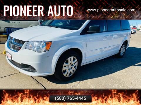 2017 Dodge Grand Caravan for sale at Pioneer Auto in Ponca City OK