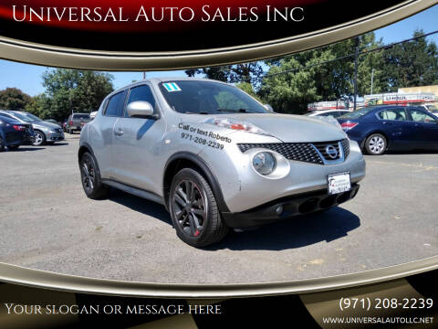 2011 Nissan JUKE for sale at Universal Auto Sales Inc in Salem OR