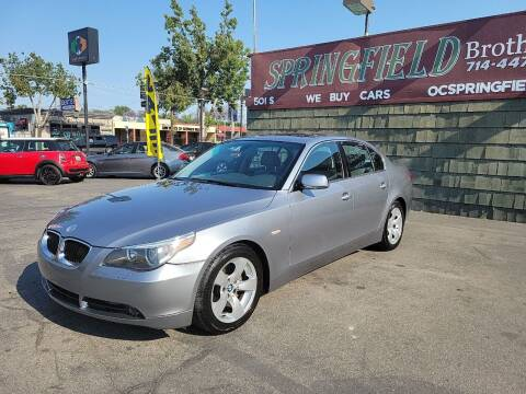 2004 BMW 5 Series for sale at SPRINGFIELD BROTHERS LLC in Fullerton CA