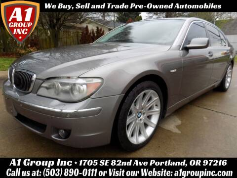 2006 BMW 7 Series for sale at A1 Group Inc in Portland OR