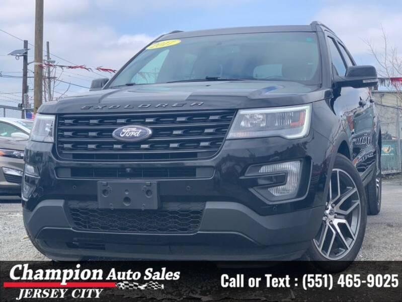 2017 Ford Explorer for sale at CHAMPION AUTO SALES OF JERSEY CITY in Jersey City NJ