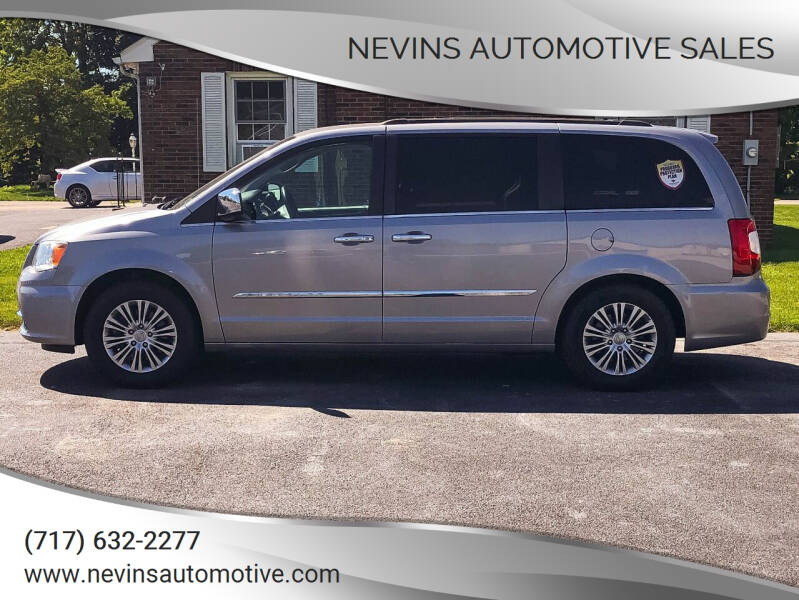 2013 Chrysler Town and Country for sale at Nevins Automotive Sales in Hanover PA