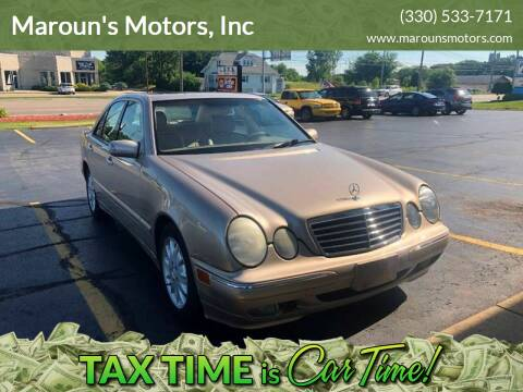 2001 Mercedes-Benz E-Class for sale at Maroun's Motors, Inc in Boardman OH
