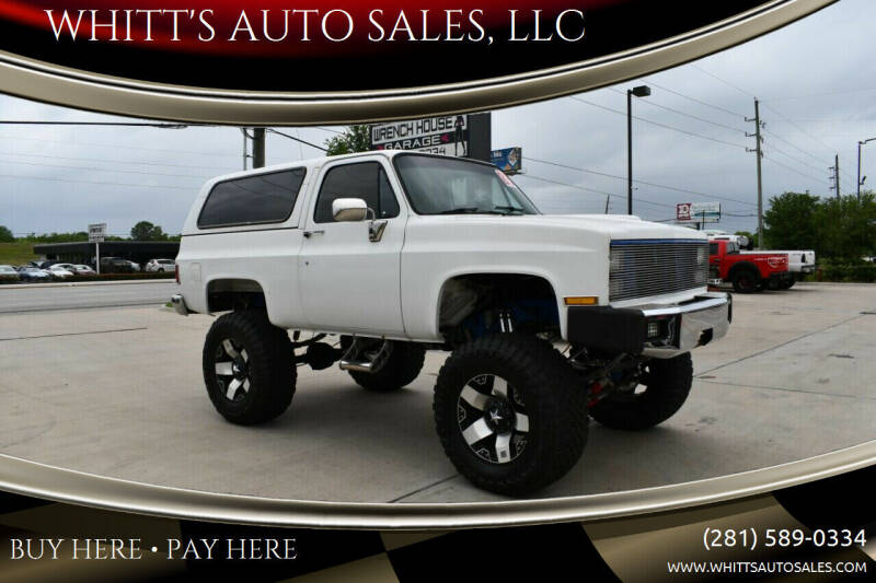 1983 Chevrolet Blazer for sale at WHITT'S AUTO SALES, LLC in Houston TX