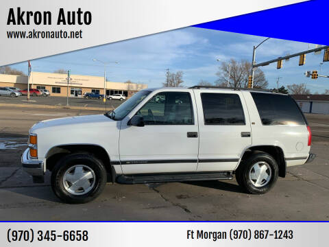 1999 Chevrolet Tahoe for sale at Akron Auto - Fort Morgan in Fort Morgan CO