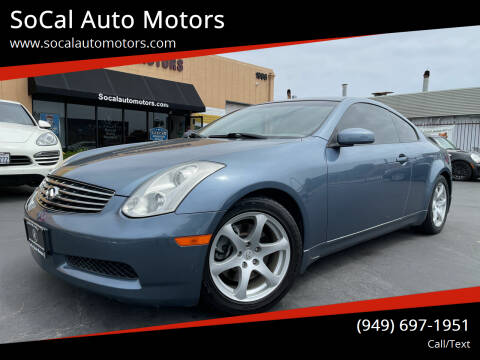 2007 Infiniti G35 for sale at SoCal Auto Motors in Costa Mesa CA