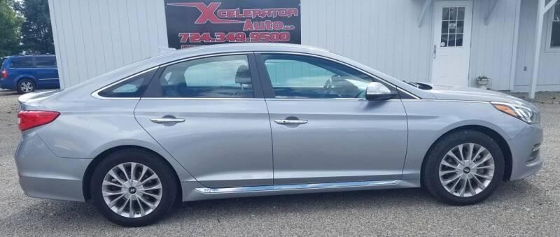 2015 Hyundai Sonata for sale at Xcelerator Auto LLC in Indiana PA
