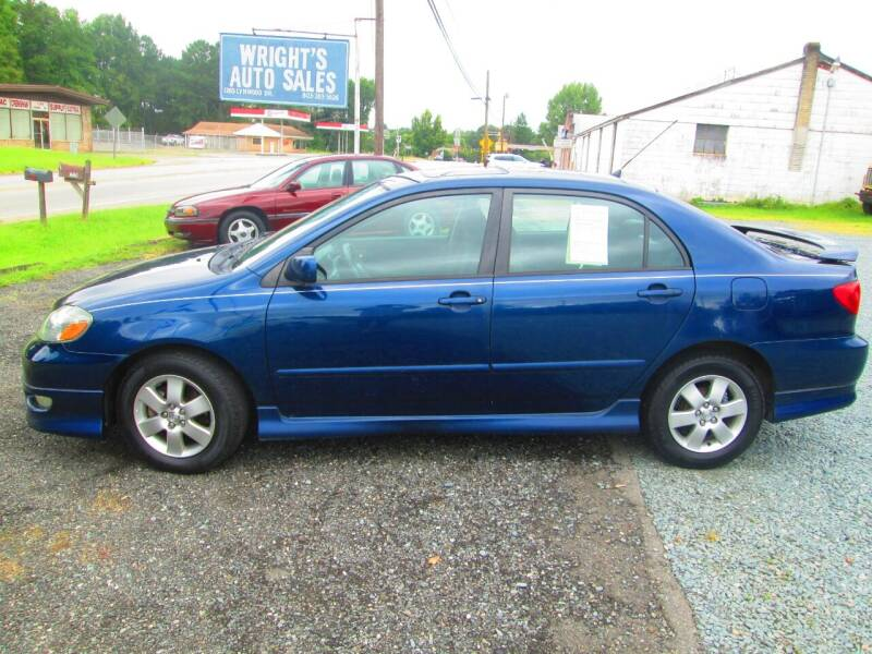 2007 Toyota Corolla for sale at Wright's Auto Sales in Lancaster SC