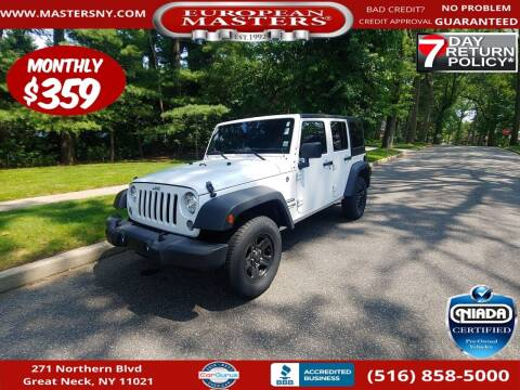 2018 Jeep Wrangler JK Unlimited for sale at European Masters in Great Neck NY