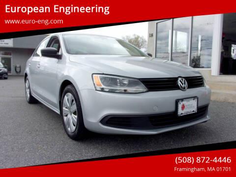 2012 Volkswagen Jetta for sale at European Engineering in Framingham MA