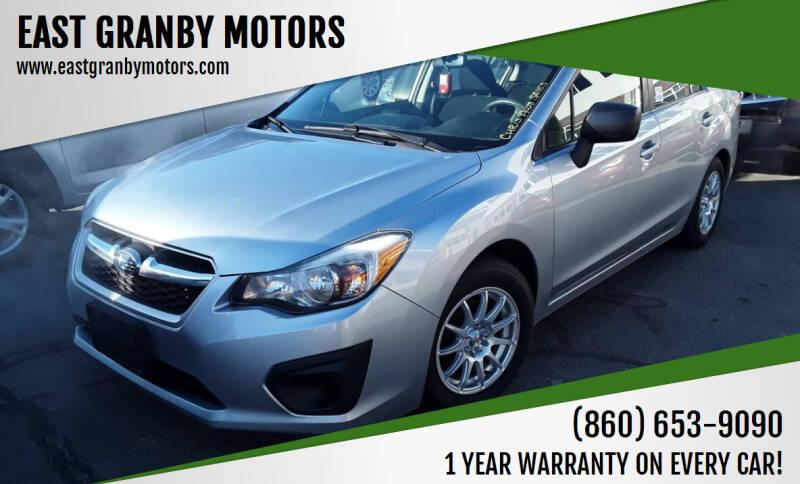 2013 Subaru Impreza for sale at EAST GRANBY MOTORS in East Granby CT