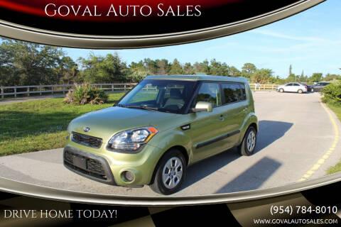 2013 Kia Soul for sale at Goval Auto Sales in Pompano Beach FL