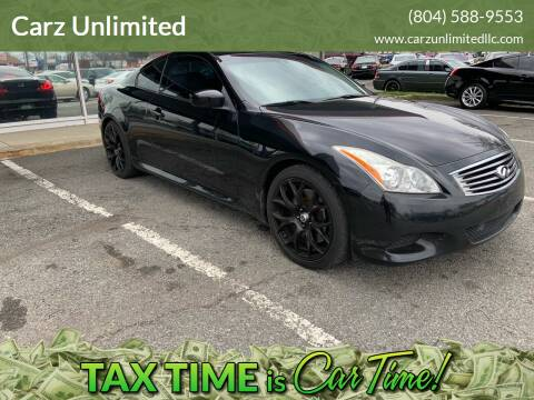 2008 Infiniti G37 for sale at Carz Unlimited in Richmond VA