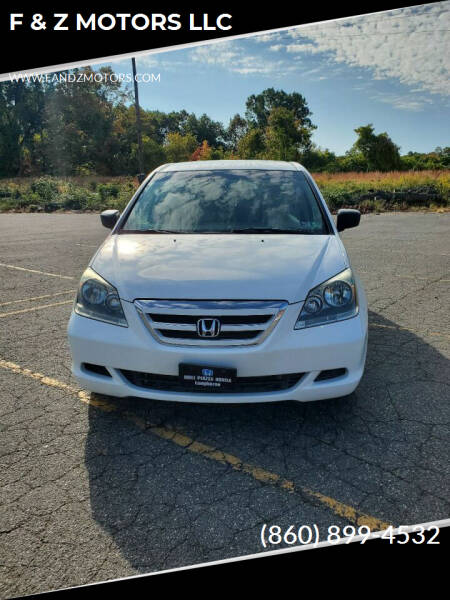 2007 Honda Odyssey for sale at F & Z MOTORS LLC in Waterbury CT