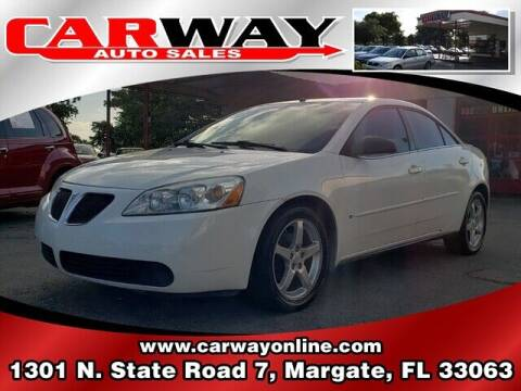 2007 Pontiac G6 for sale at CARWAY Auto Sales in Margate FL