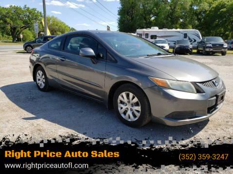 2012 Honda Civic for sale at Right Price Auto Sales in Waldo FL