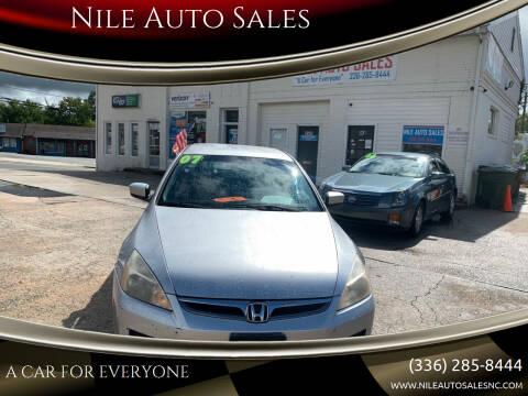 2007 Honda Accord for sale at Nile Auto Sales in Greensboro NC