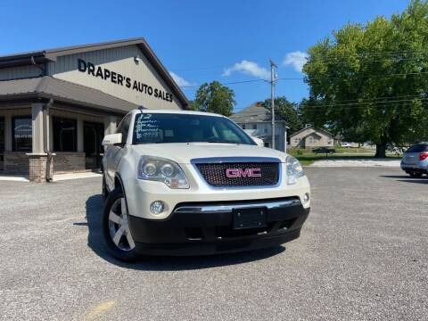 2012 GMC Acadia for sale at Drapers Auto Sales in Peru IN