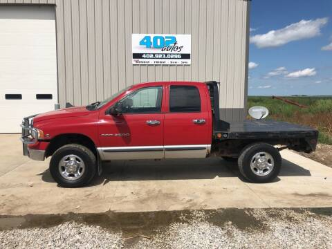 2004 Dodge Ram Pickup 2500 for sale at 402 Autos in Lindsay NE