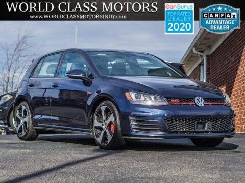 2017 Volkswagen Golf GTI for sale at World Class Motors LLC in Noblesville IN