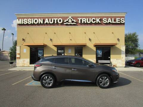 2015 Nissan Murano for sale at Mission Auto & Truck Sales, Inc. in Mission TX
