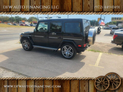 2014 Mercedes-Benz G-Class for sale at DFW AUTO FINANCING LLC in Dallas TX