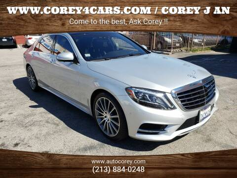 2015 Mercedes-Benz S-Class for sale at WWW.COREY4CARS.COM / COREY J AN in Los Angeles CA