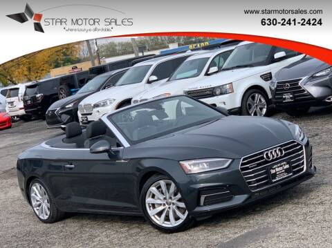2018 Audi A5 for sale at Star Motor Sales in Downers Grove IL