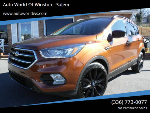 2017 Ford Escape for sale at Auto World Of Winston - Salem in Winston Salem NC