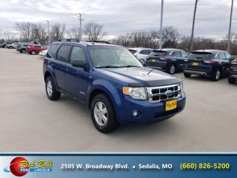 2008 Ford Escape for sale at RICK BALL FORD in Sedalia MO