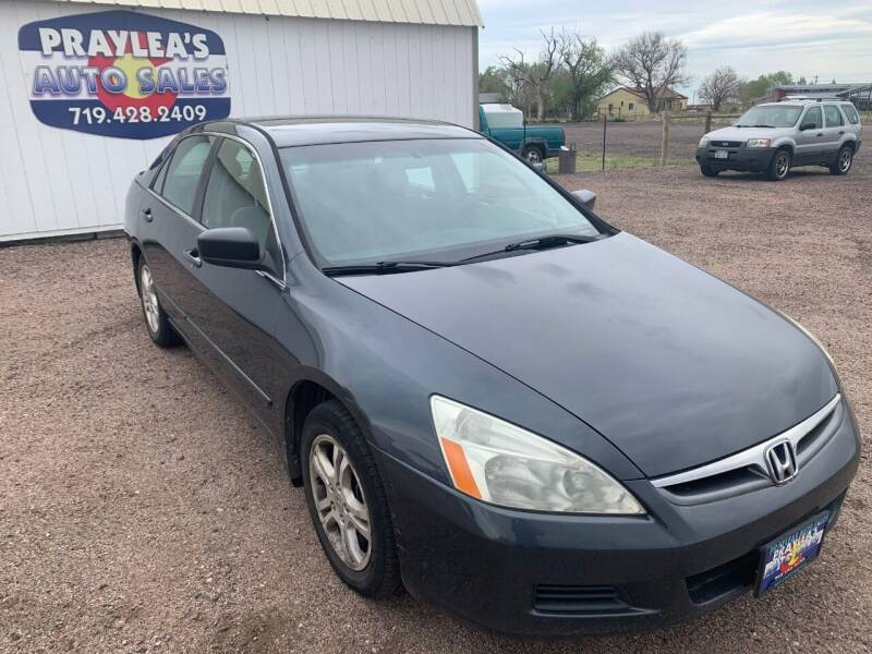 2007 Honda Accord for sale at Praylea's Auto Sales in Peyton CO