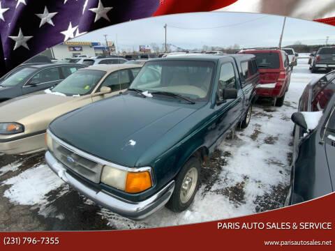 1997 Ford Ranger for sale at Paris Auto Sales & Service in Big Rapids MI