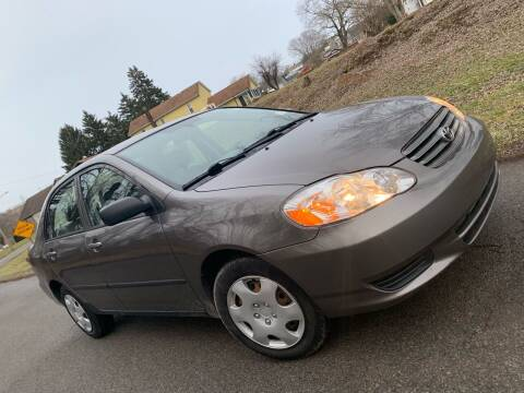 2003 Toyota Corolla for sale at Trocci's Auto Sales in West Pittsburg PA