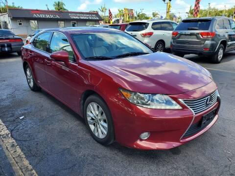 2013 Lexus ES 300h for sale at America Auto Wholesale Inc in Miami FL