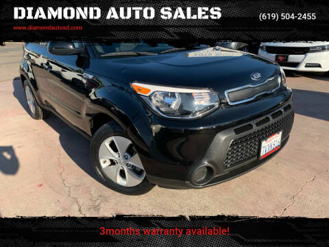 2016 Kia Soul for sale at DIAMOND AUTO SALES in El Cajon CA