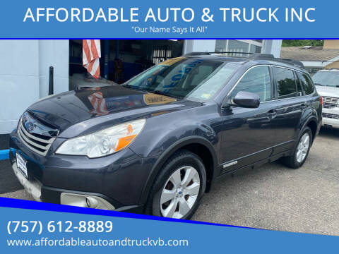 2012 Subaru Outback for sale at AFFORDABLE AUTO & TRUCK INC in Virginia Beach VA